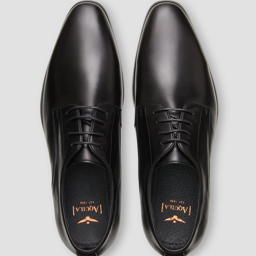 Grayson Black Derby Shoes