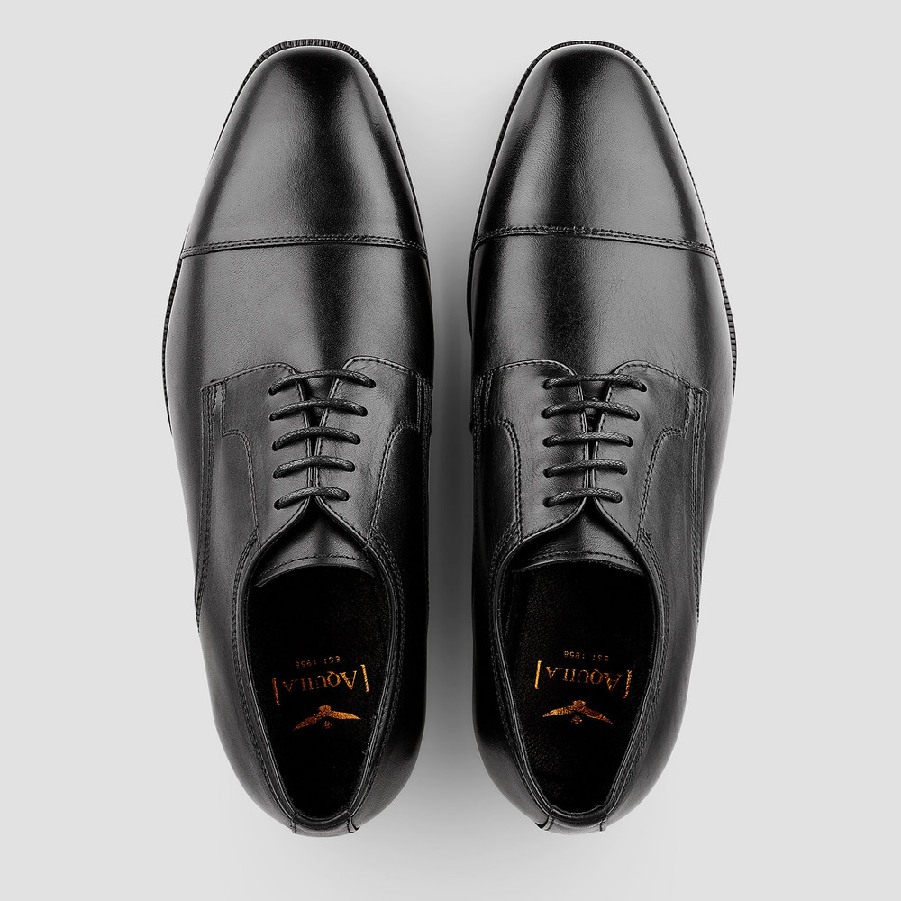 Henshaw Black Lace Up Shoes
