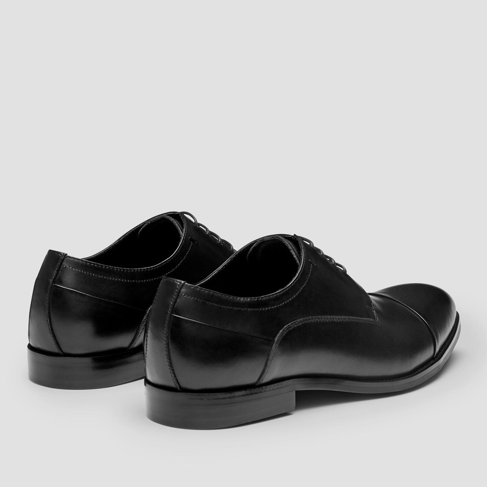 Gatwick Black Derby Shoes