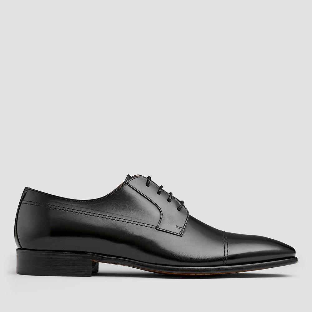 Langer Black Lace Up Shoes