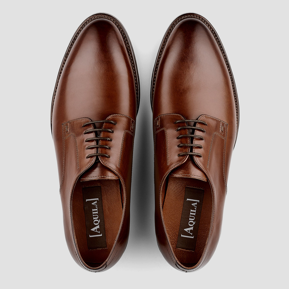 Vawkin Tan Lace Up Shoes