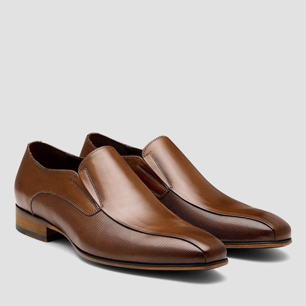 Lecce Tan Slip On Shoes