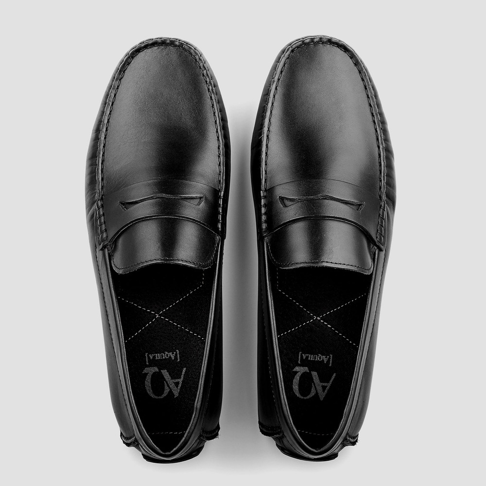 Henmore Black Moccasins