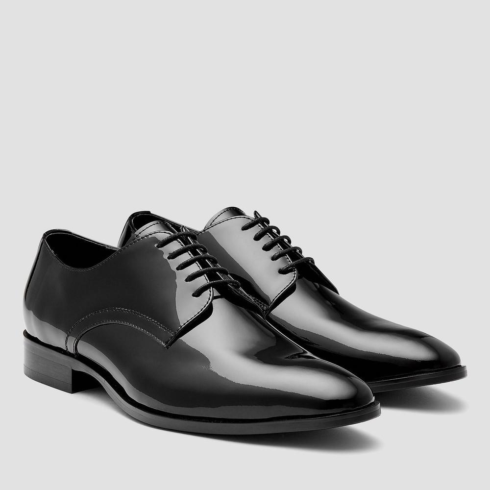 Stafford Black Derby Shoes
