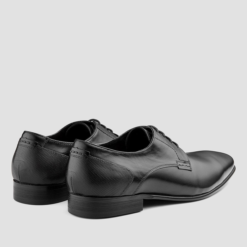 Pablo Black Lace Up Shoes - Aquila