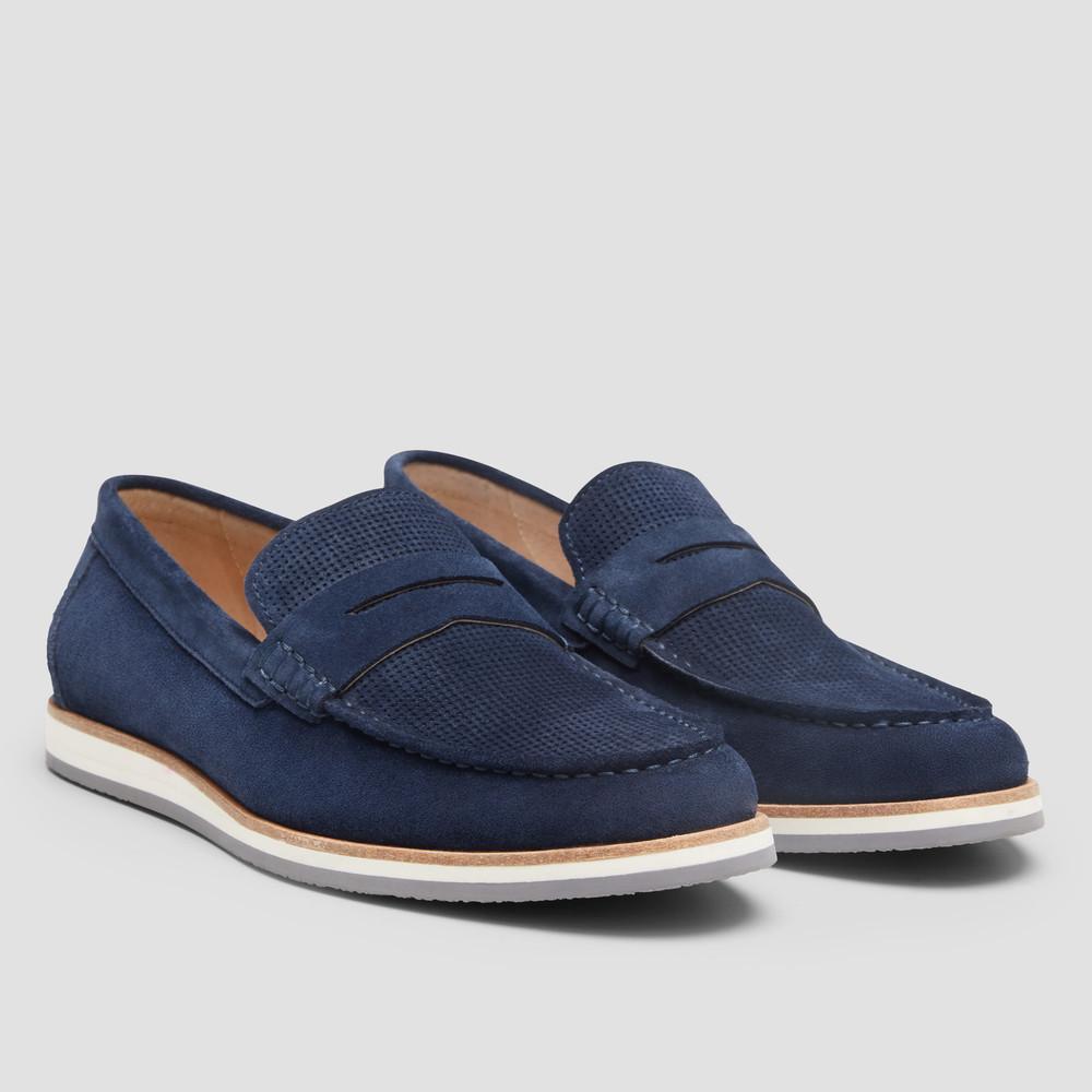 Michigan Blue Loafers