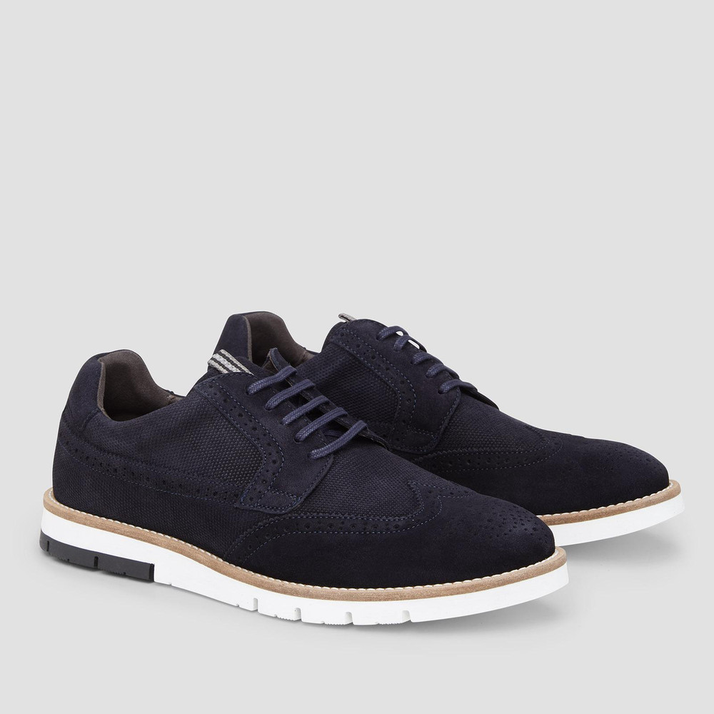 Saxon Navy Casual Shoes