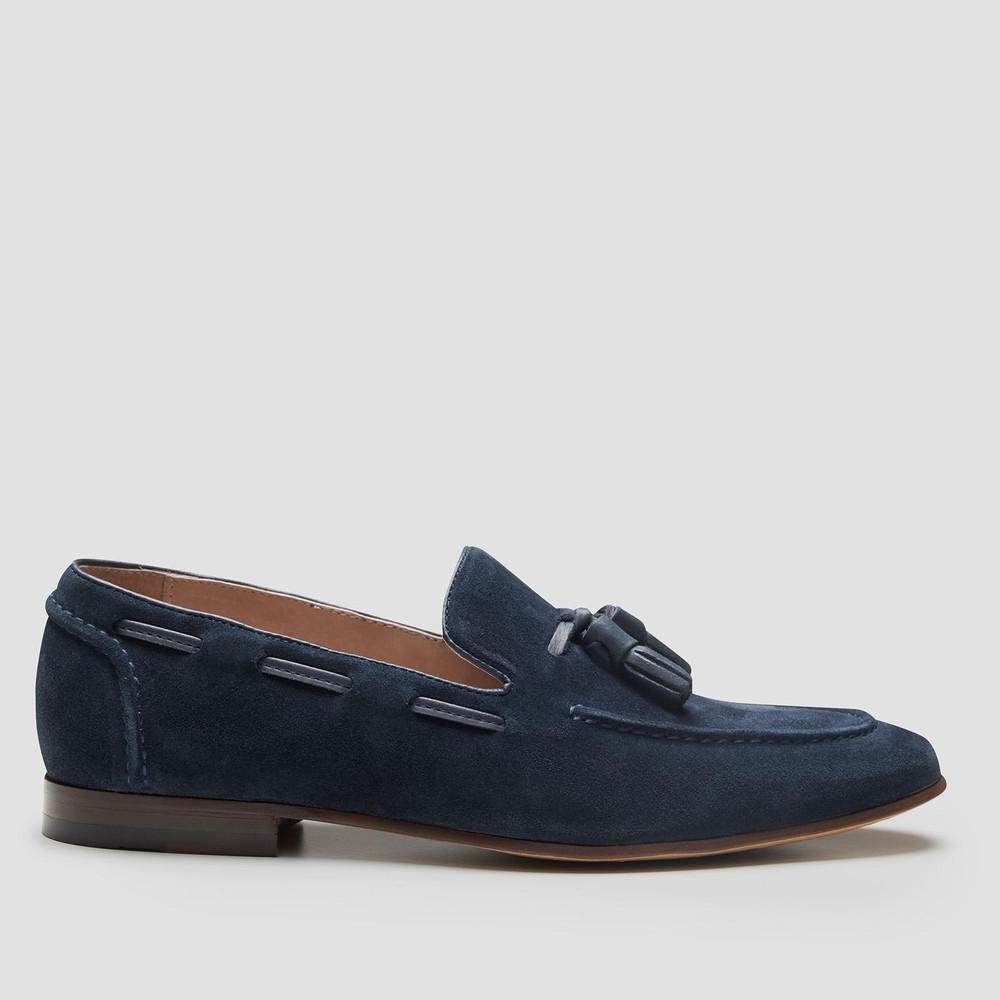 Blume Navy Loafers