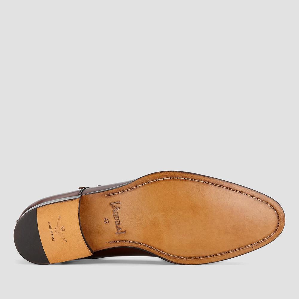 Whitmore Brandy Monk Strap Shoes