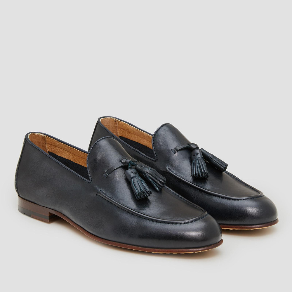 Basso Navy Loafers