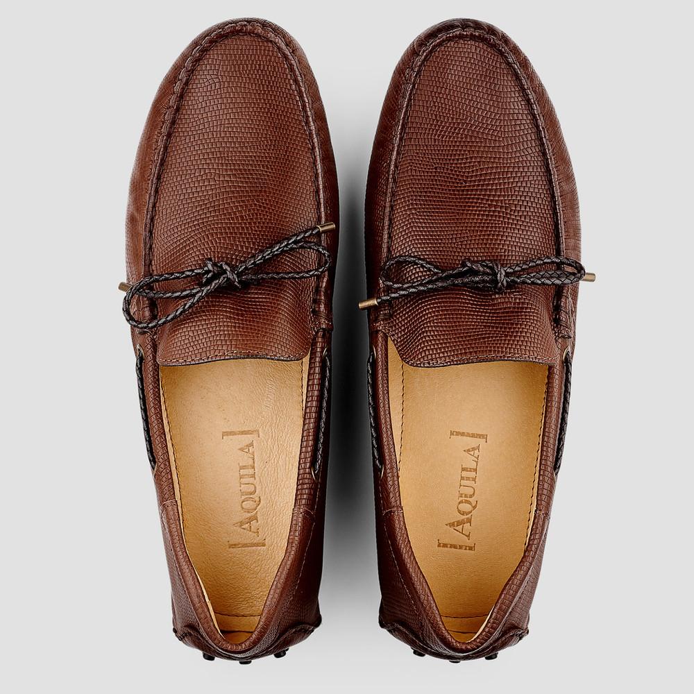 Balfort Lizard Brown Driving Shoes
