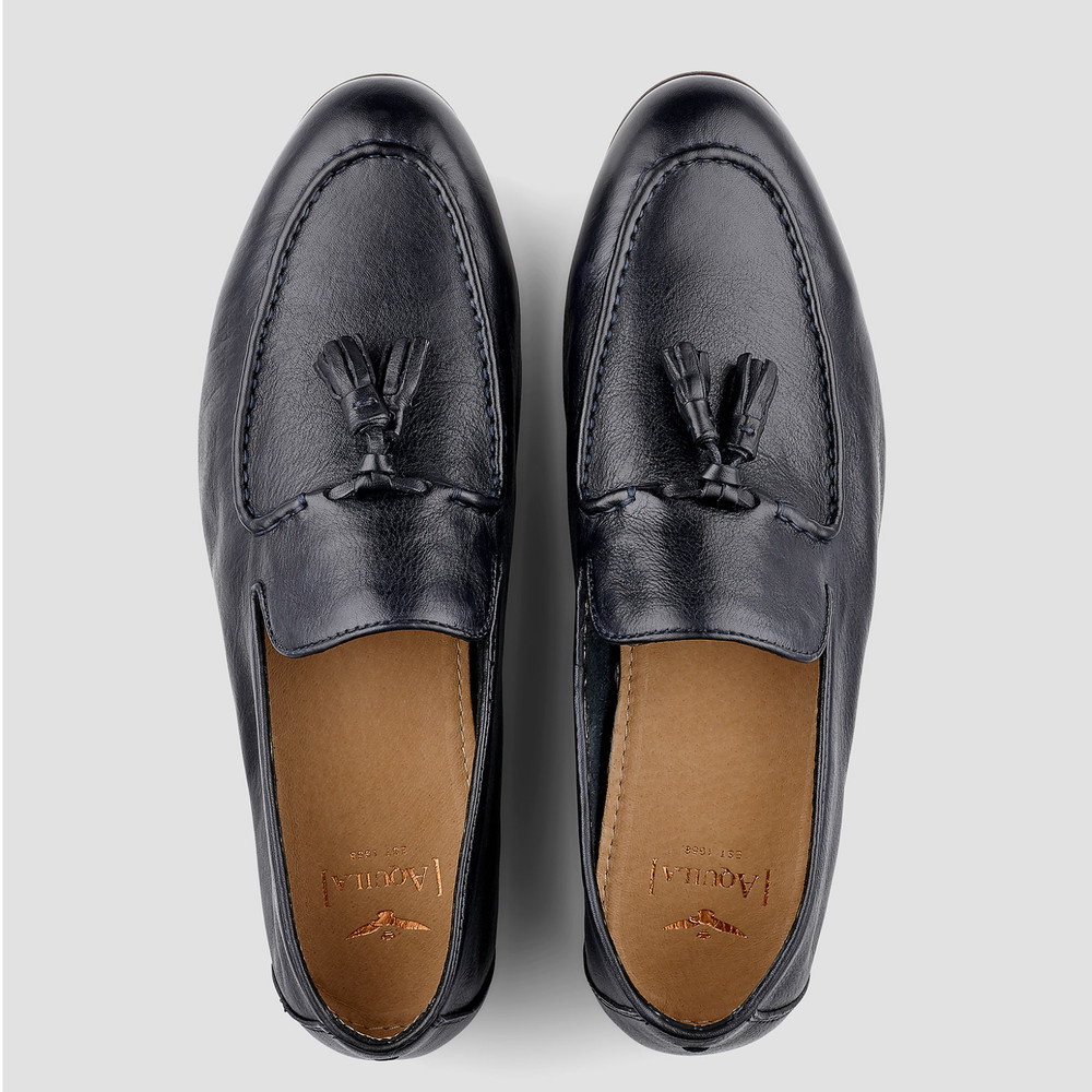 Buxton Navy Loafers