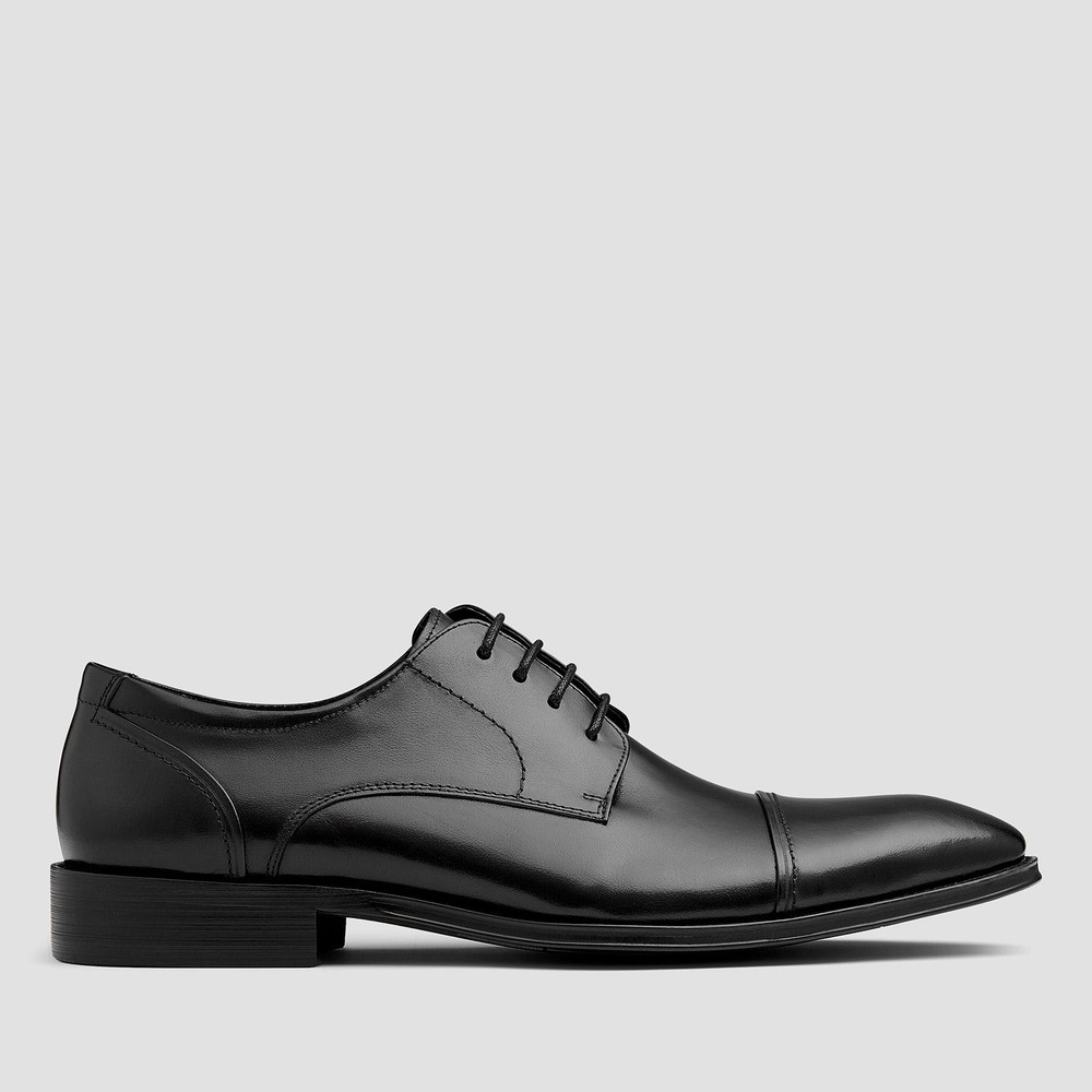 Harlow Black Lace Up Shoes