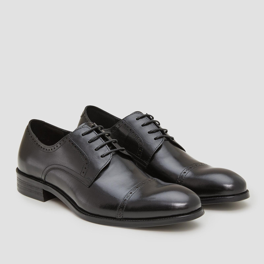 Galway Black Lace Up Shoes