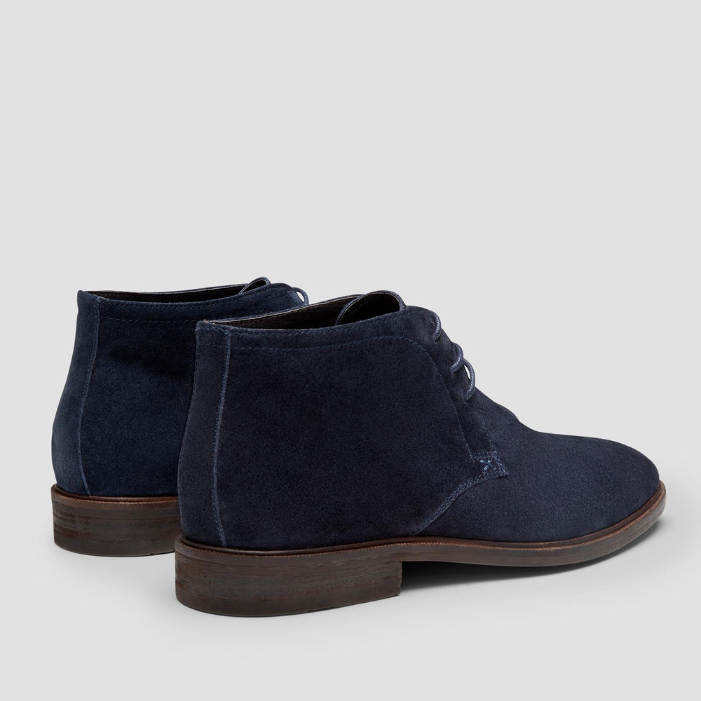 Drummond Navy Ankle Boots