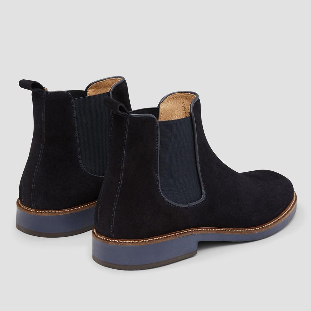 Symons Navy Chelsea Boots