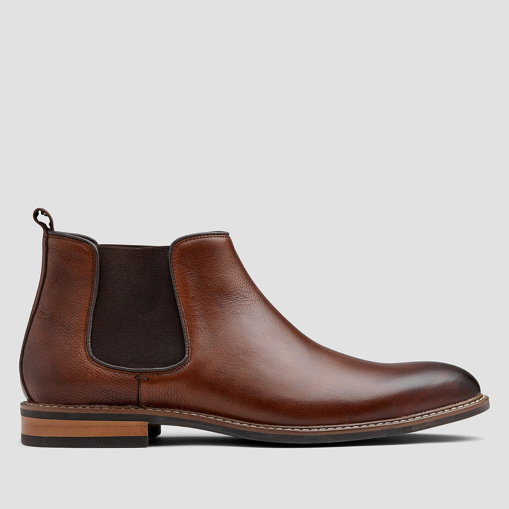 Lucca Tan Chelsea Boots