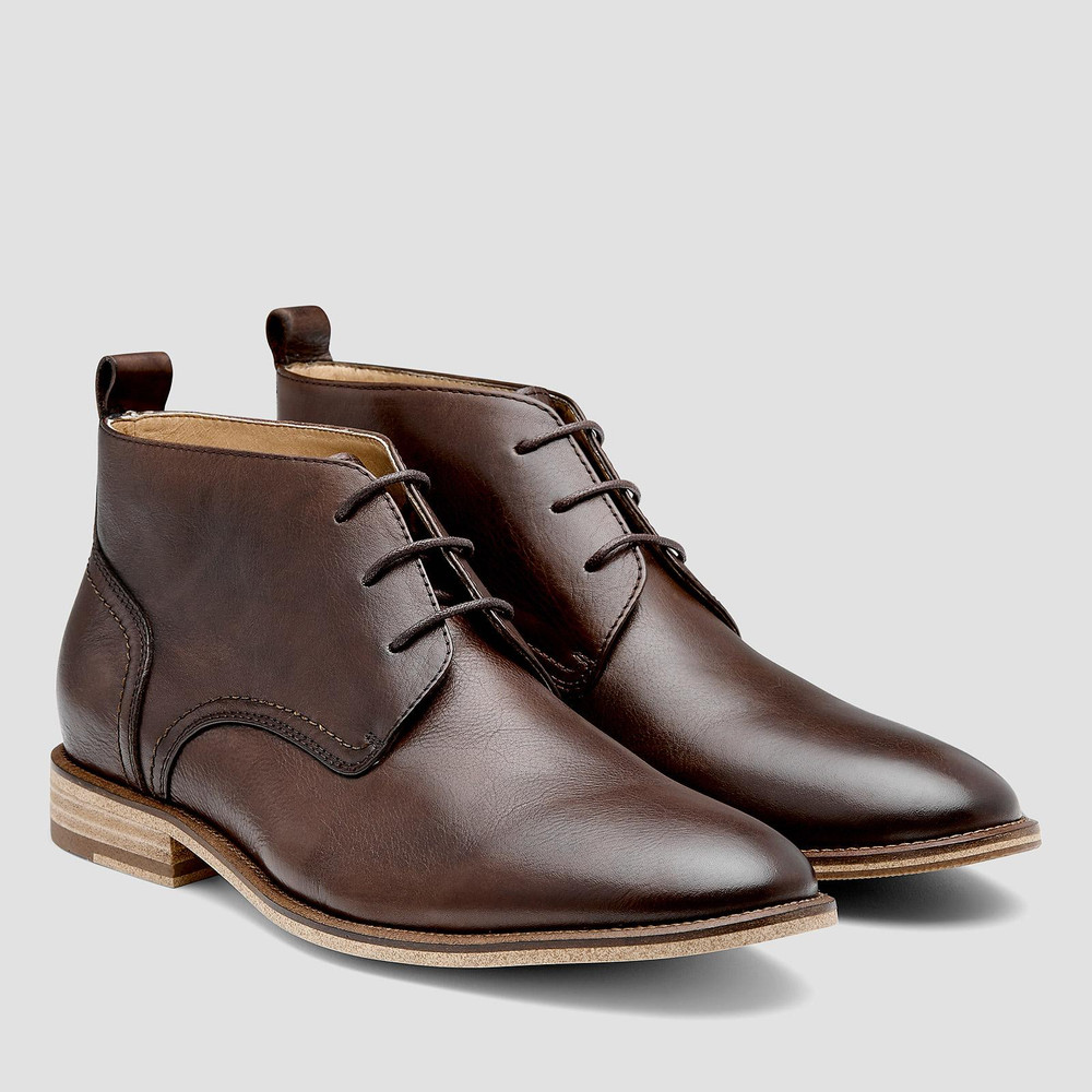 Brinton Brown Ankle Boots