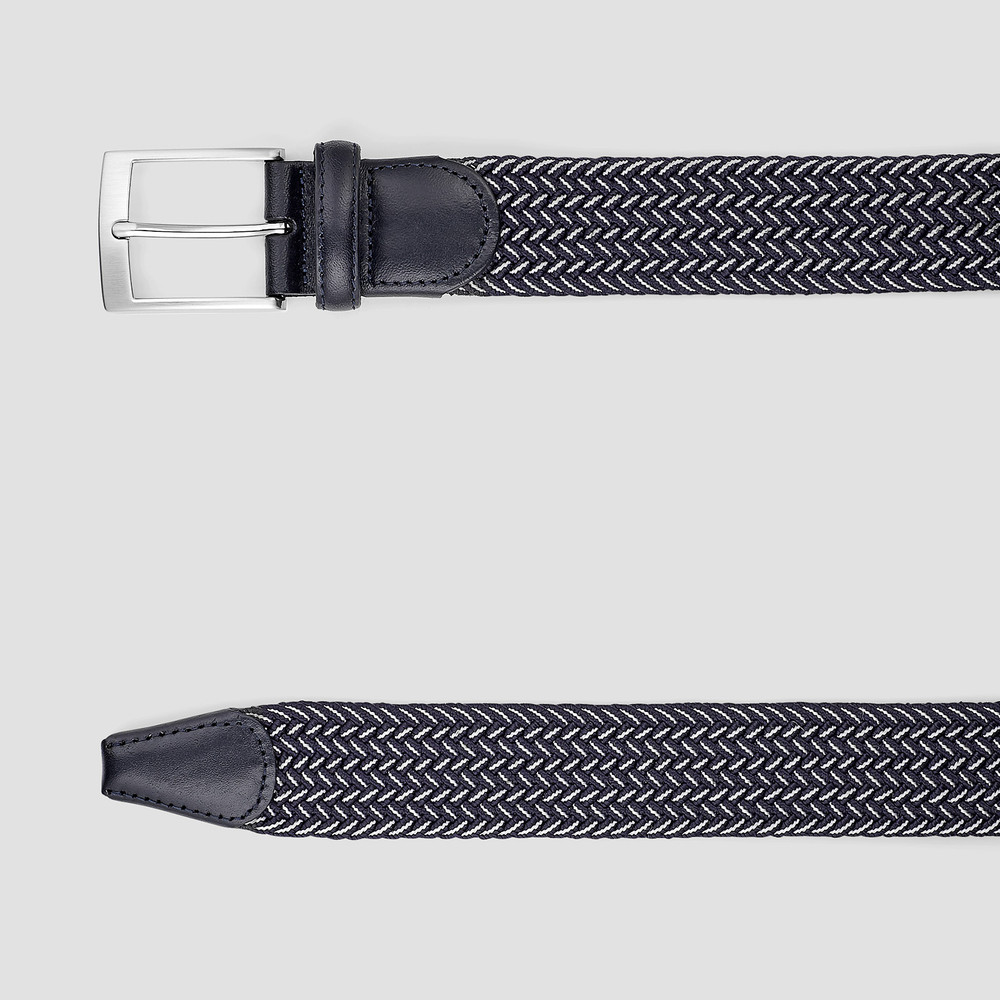 Ingsley Navy/ White Belt