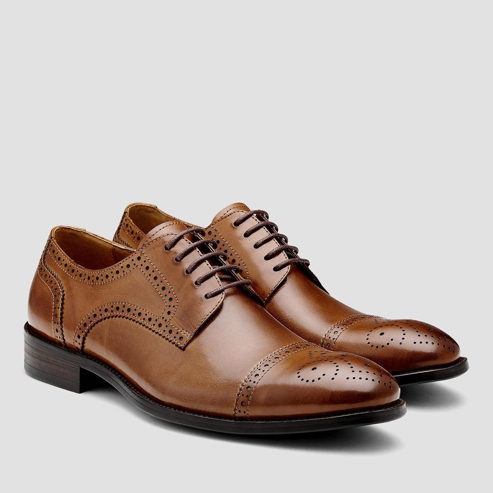 Modena Tan Lace Up Shoes