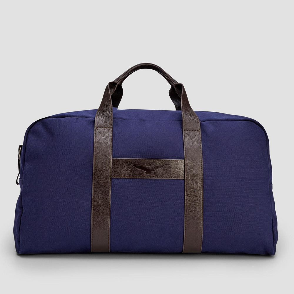 Hans Navy Overnight Bag