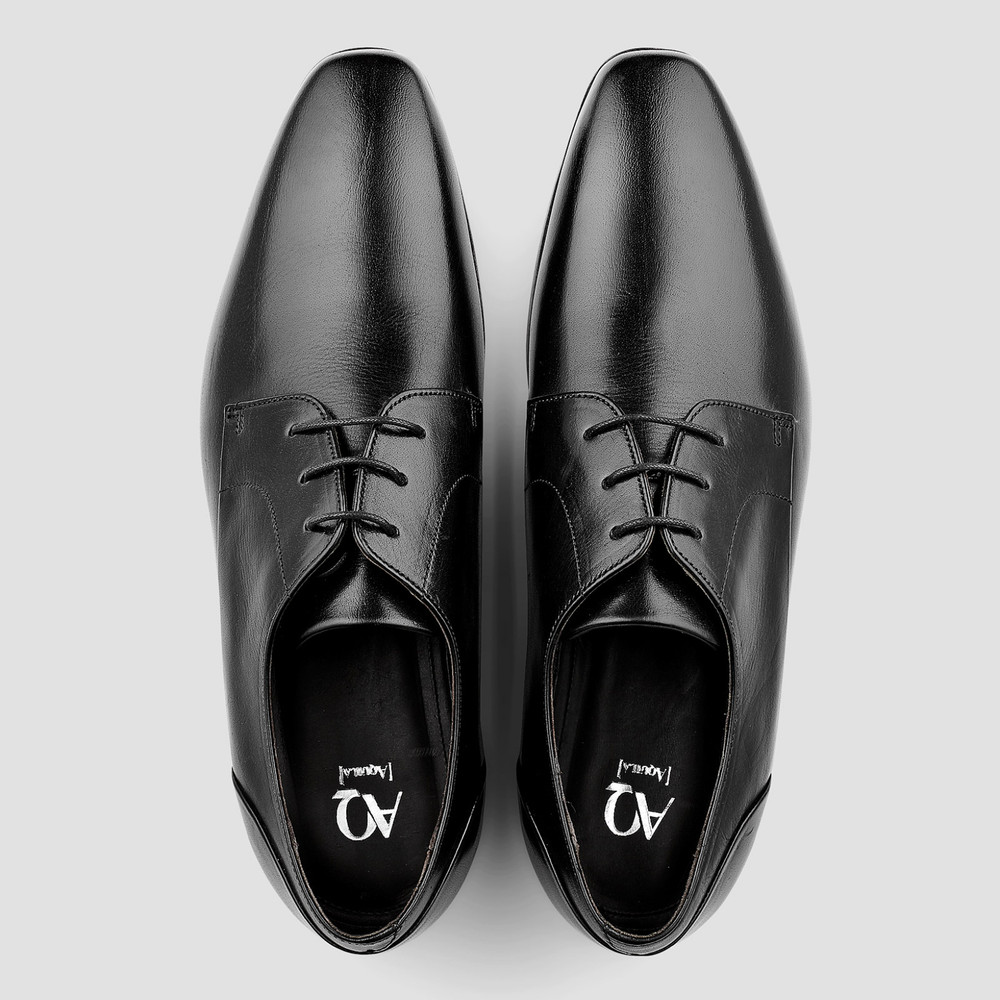 Lipari Black Derby Shoes