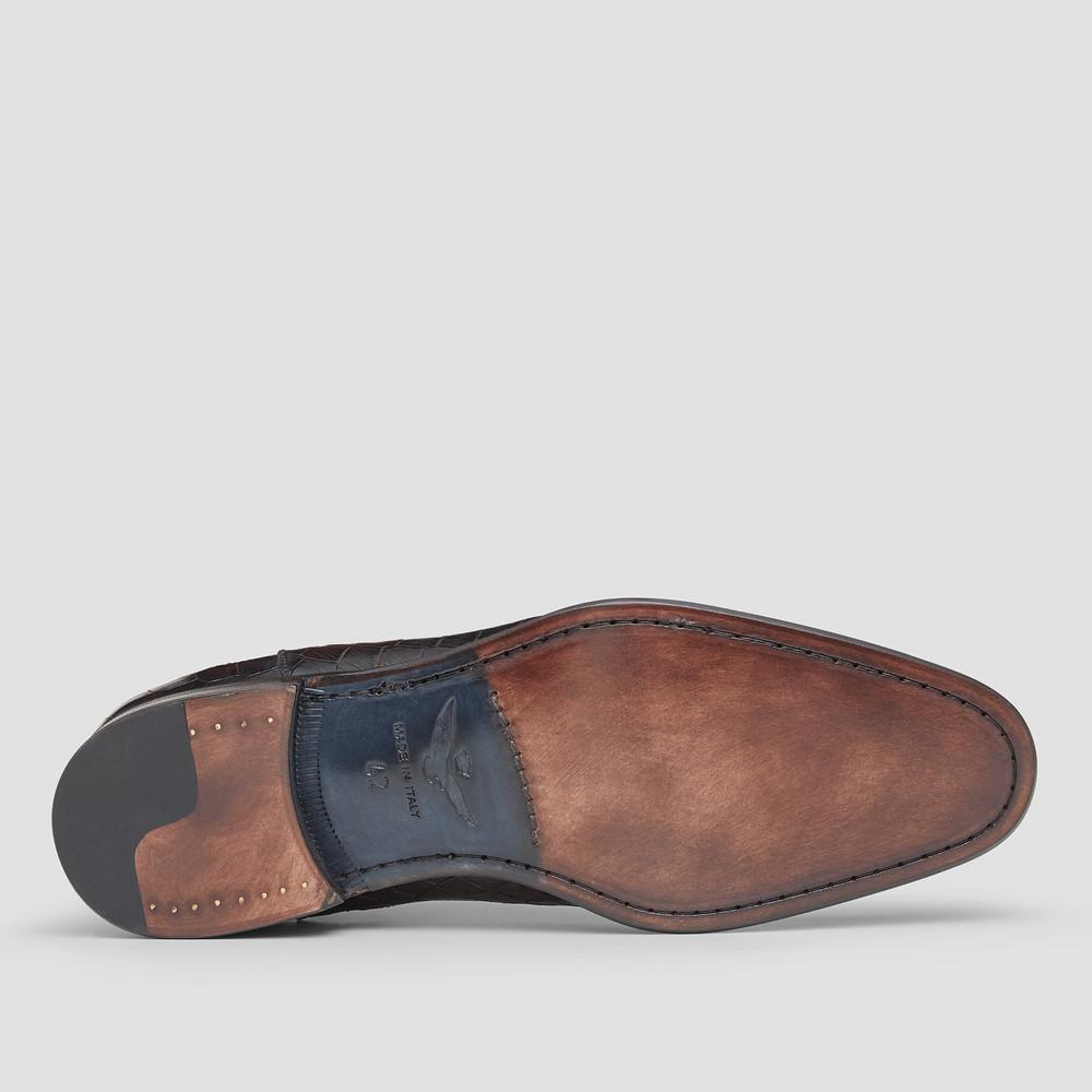 Lippi Croc. Brown Chelsea Boots