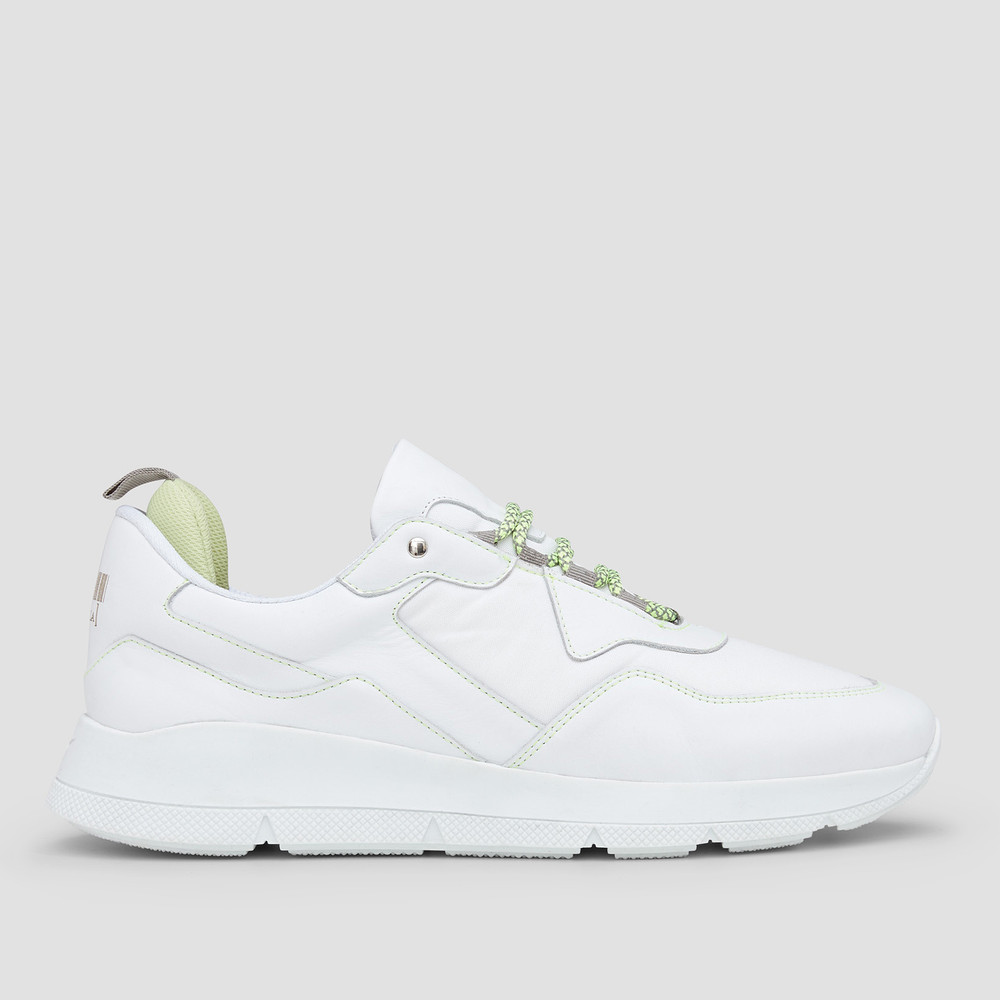 Brooklyn White/Lime Sneakers