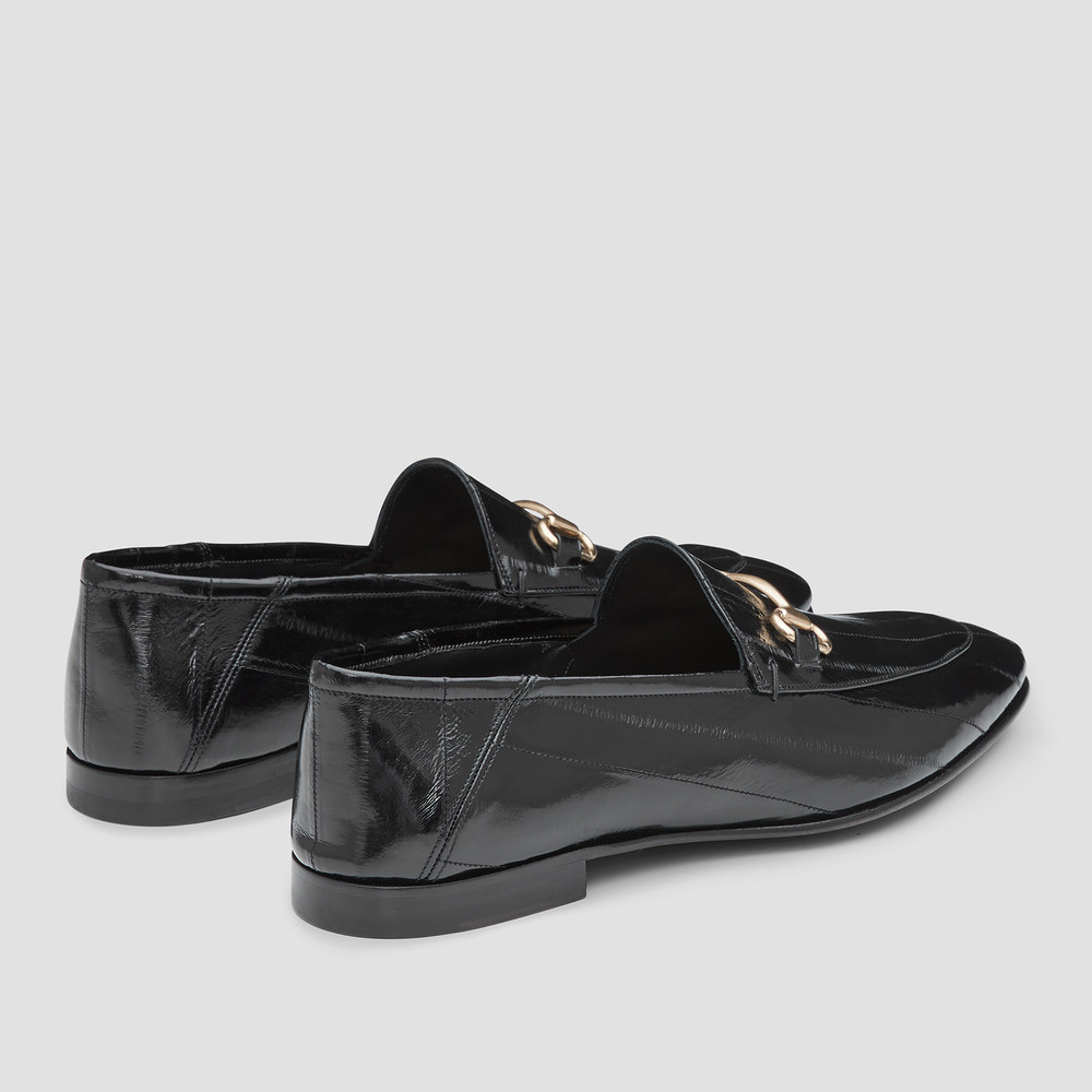 Clemence Black Loafers