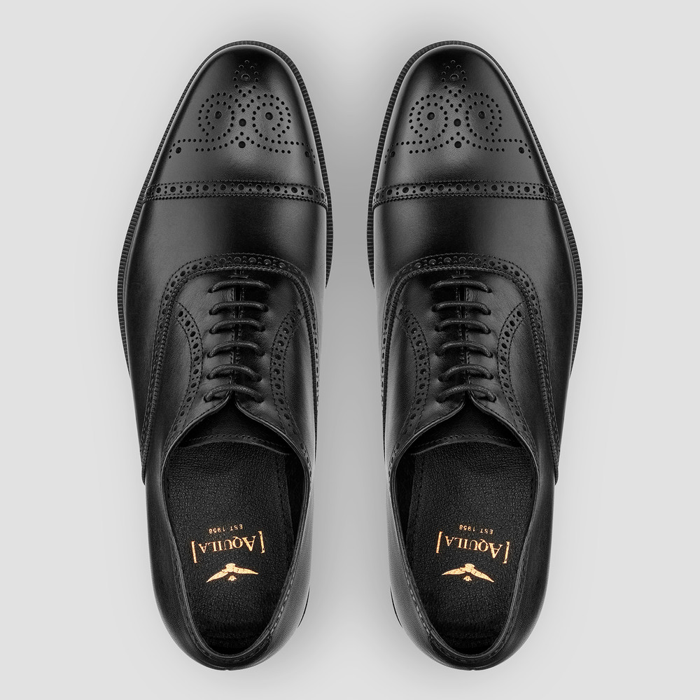 Kensington Black Oxford Shoes