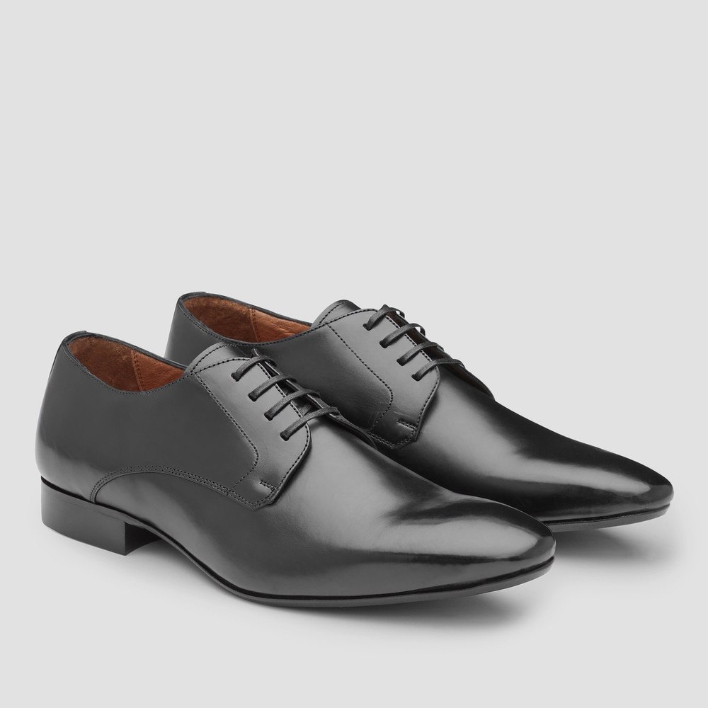 Starks Black Derby Shoes