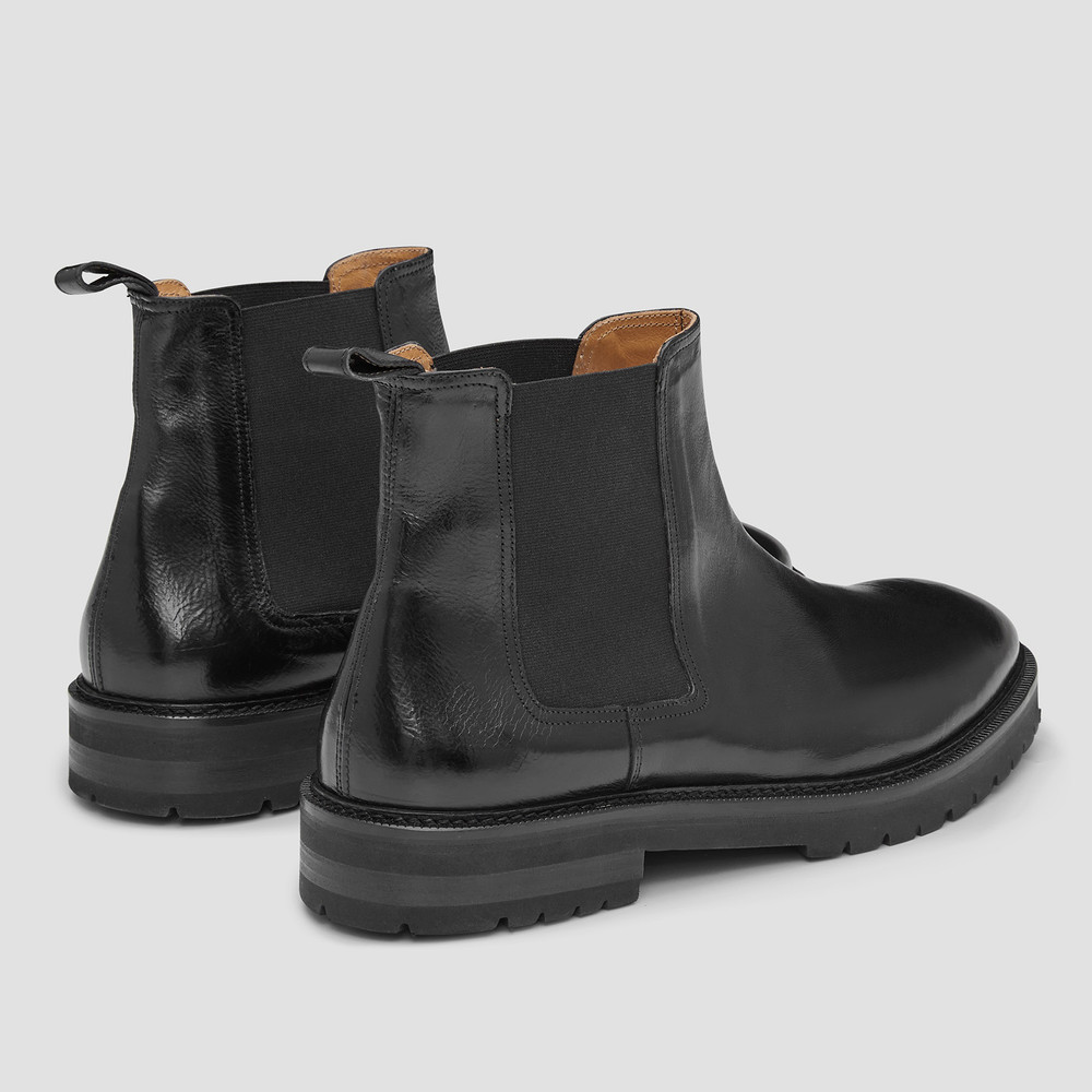 Kean Black Chelsea Boots