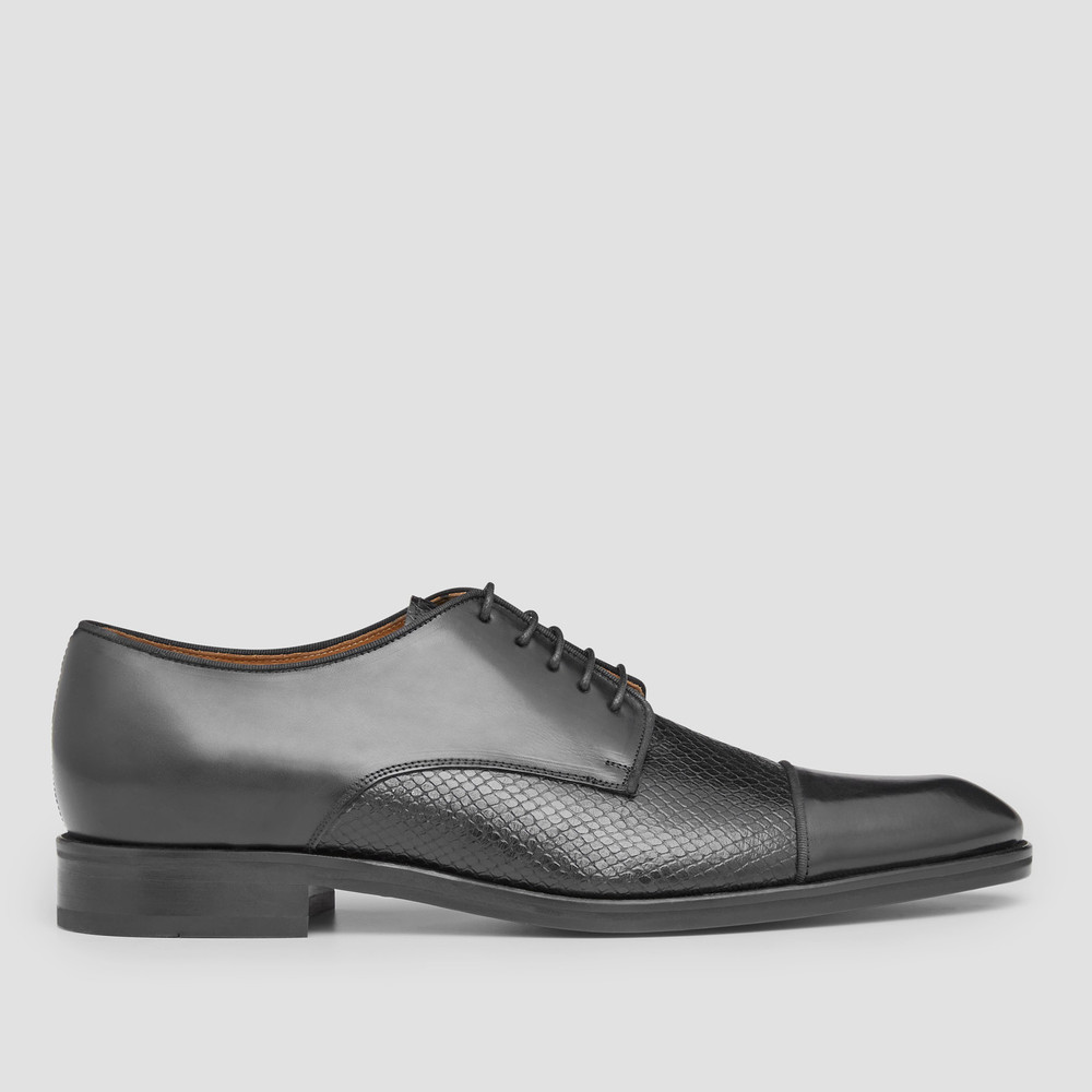 Redford Black Derby Shoes