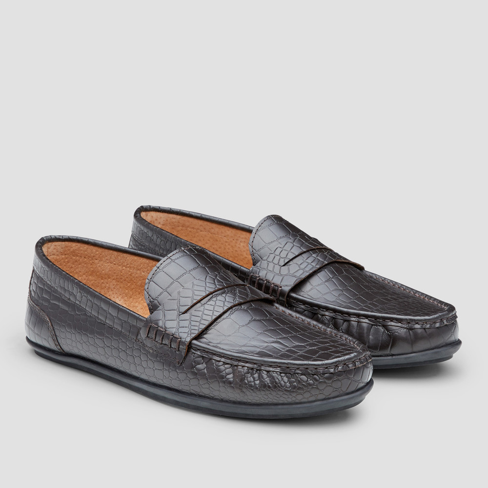 Vector Croc. Brown Slip On Shoes