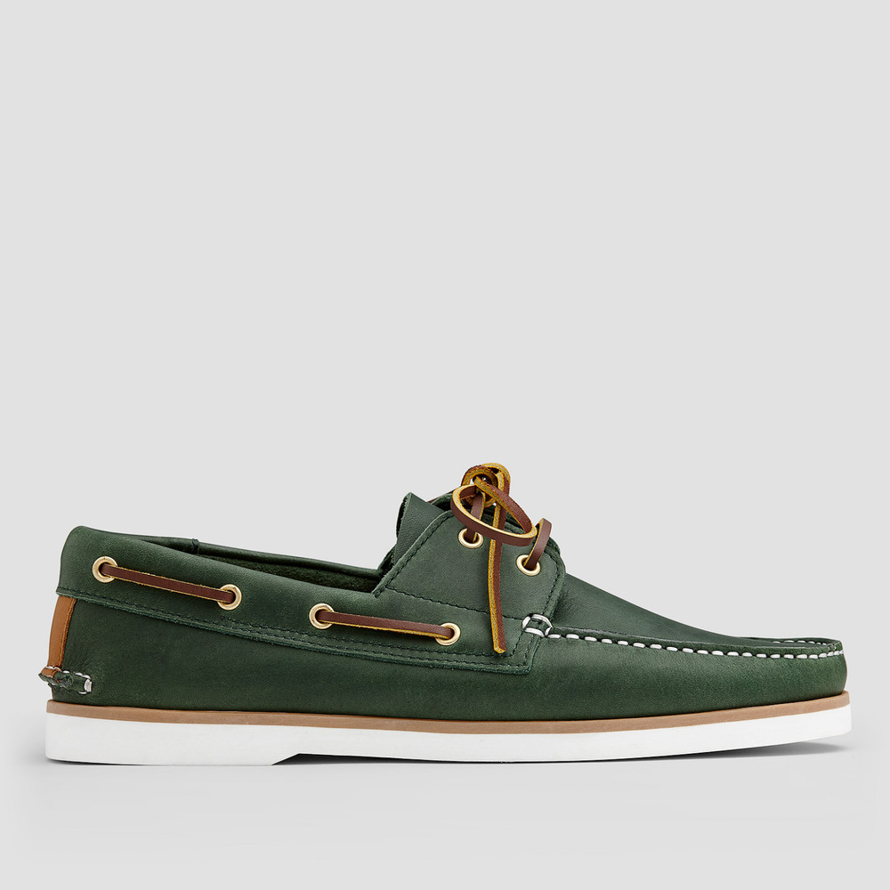 Port Green Boat Shoes