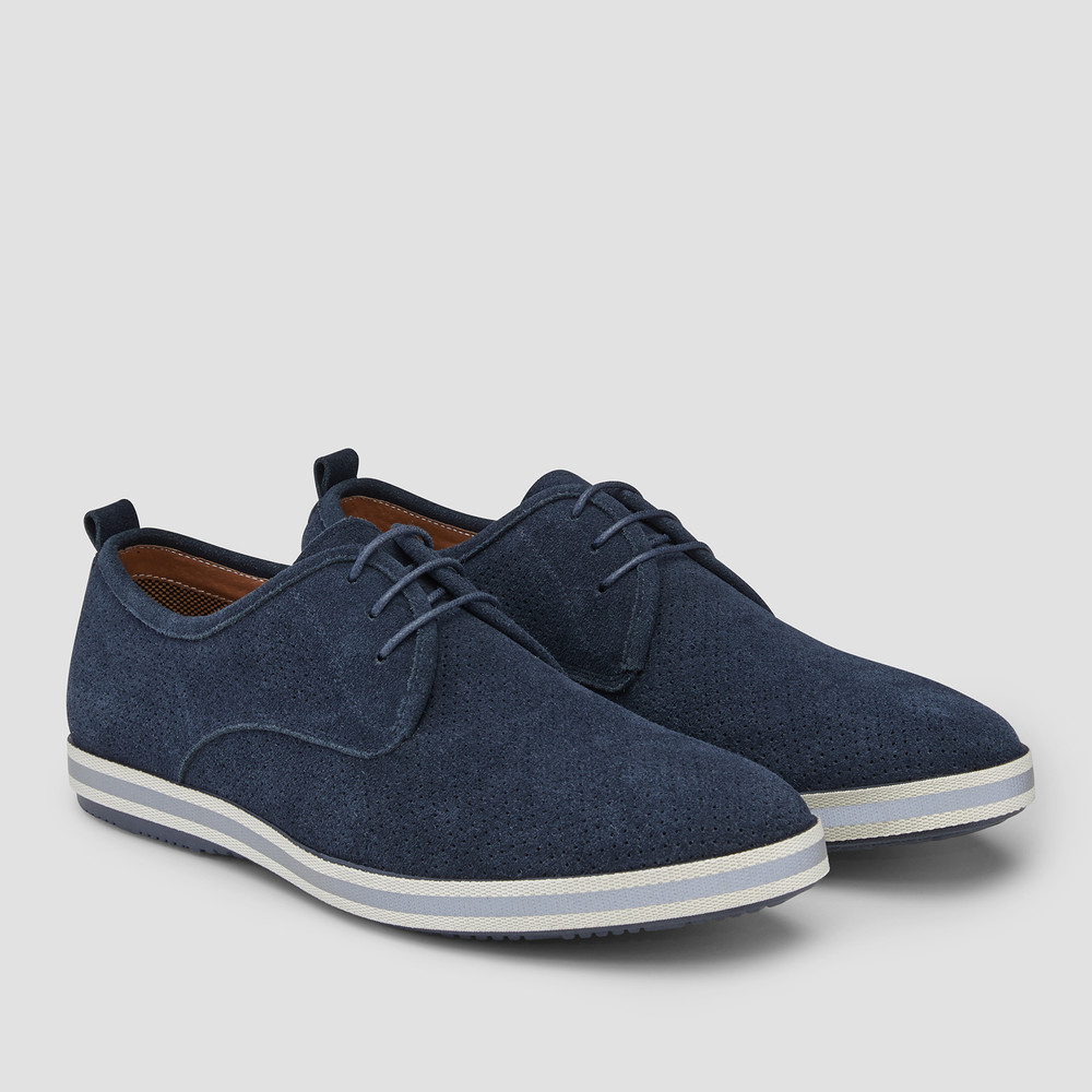 Chaz Navy Derby Shoes