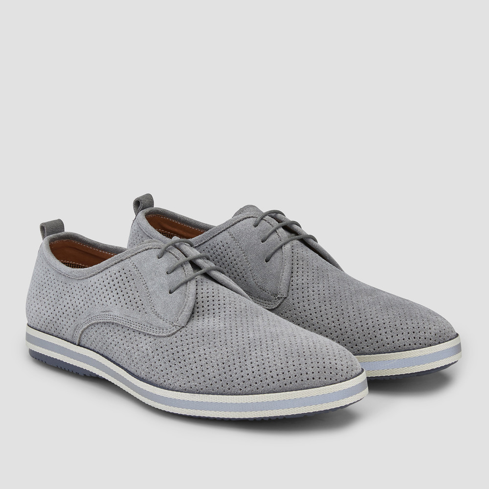 Chaz Grey Derby Shoes