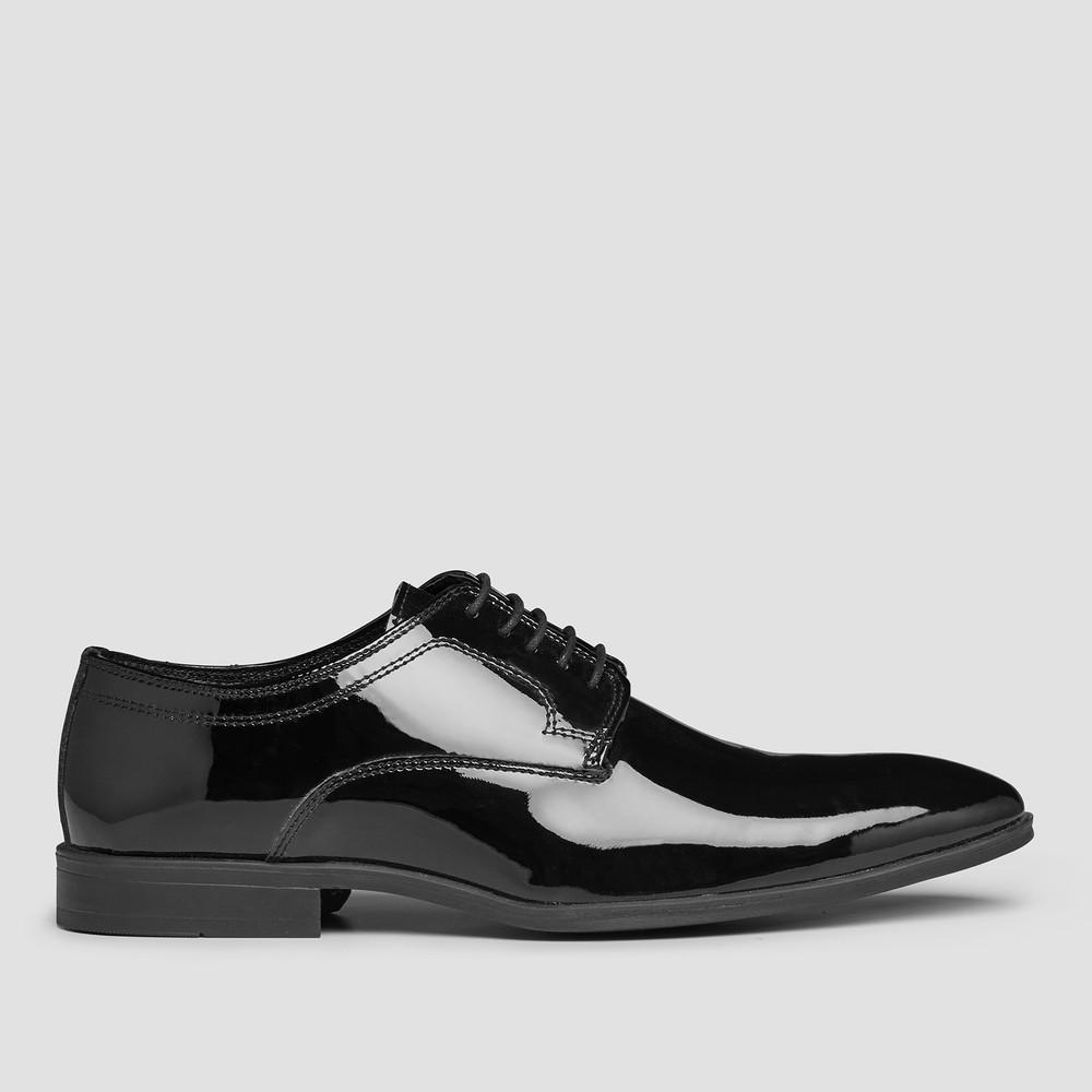 Linwood Ptnt Blk Derby Shoes - Aquila
