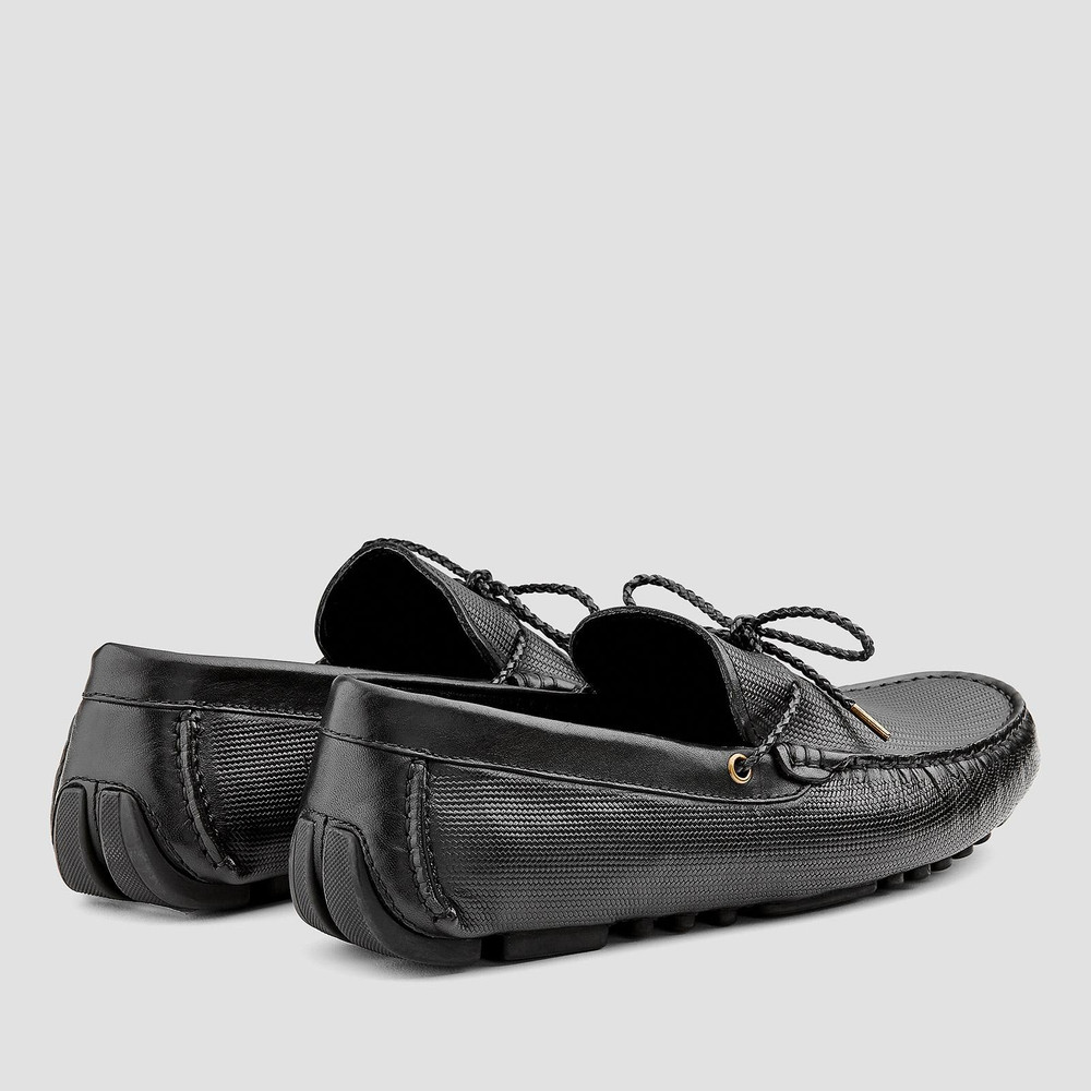 Oklahoma Black Driving Shoes
