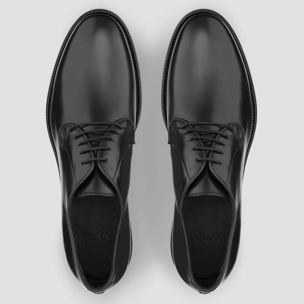 Fenwick Black Derby Shoes
