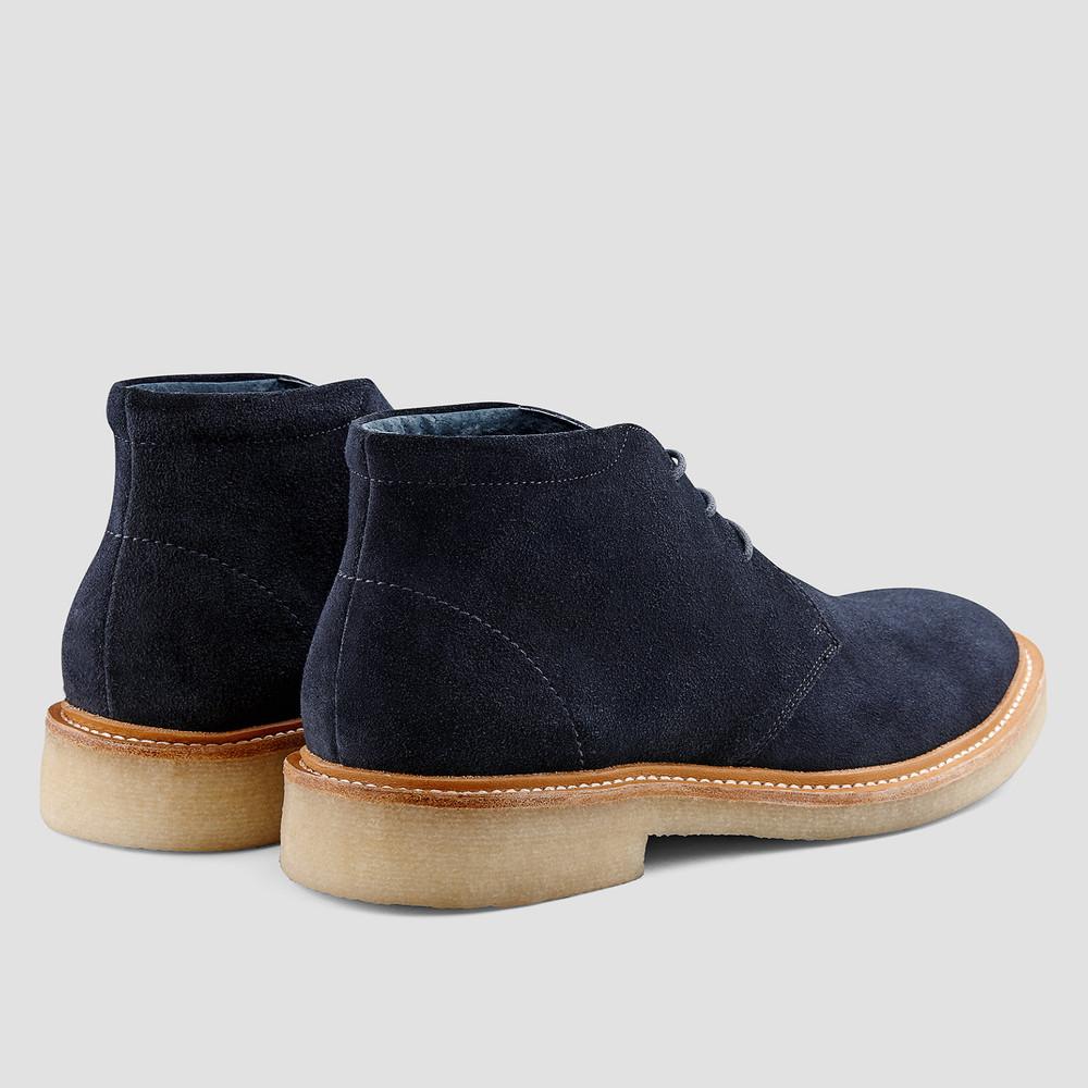 Caspar Navy Desert Boots