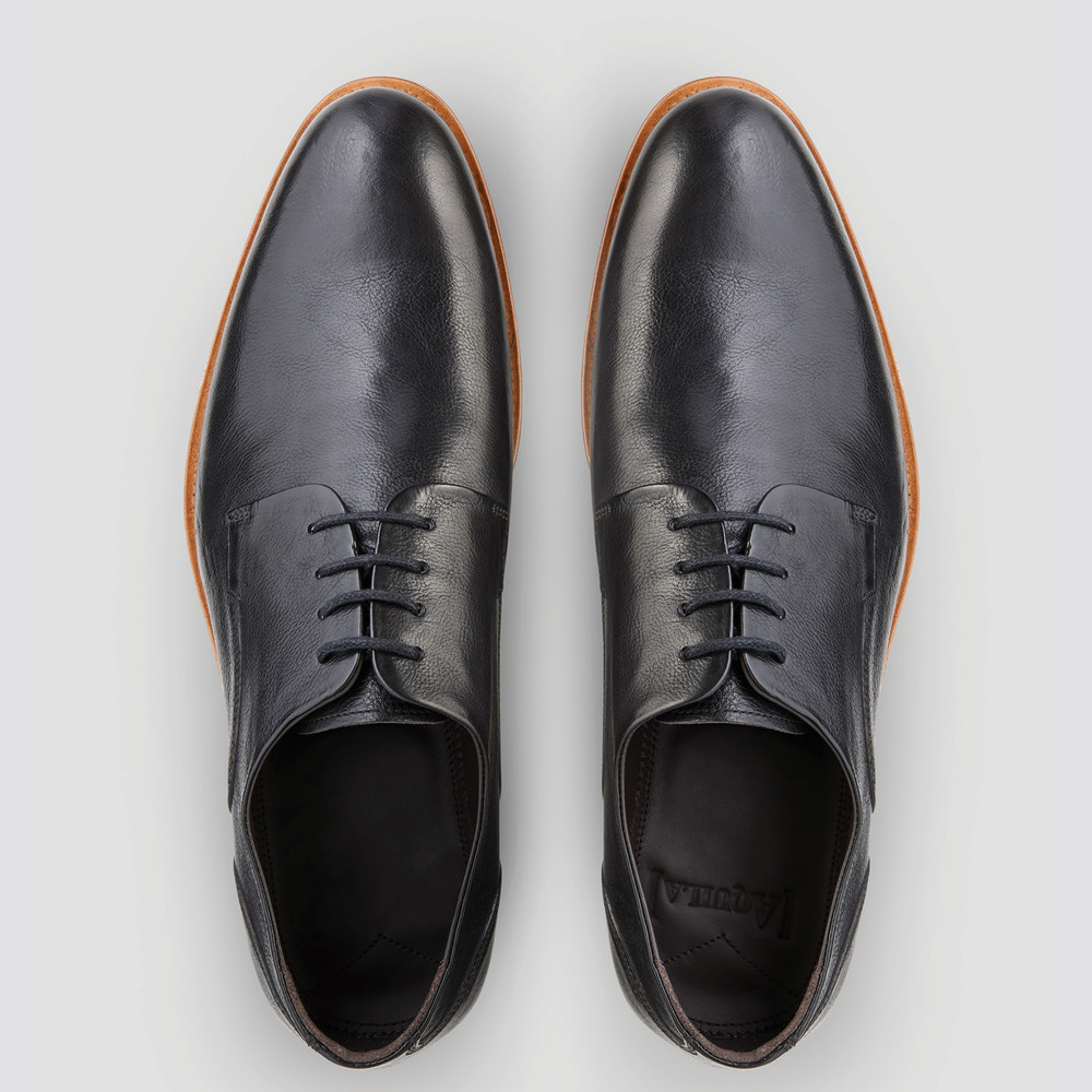 Kennard Black Derby Shoes