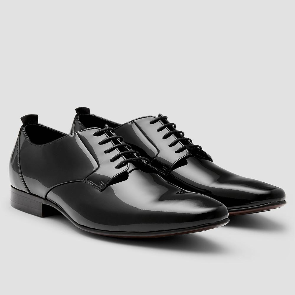 Kruse Ptnt Blk Dress Shoes - Aquila