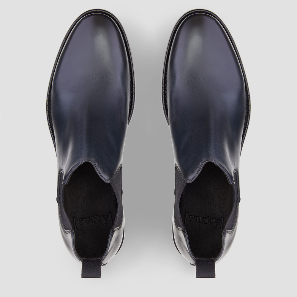 Patton Navy Chelsea Boots