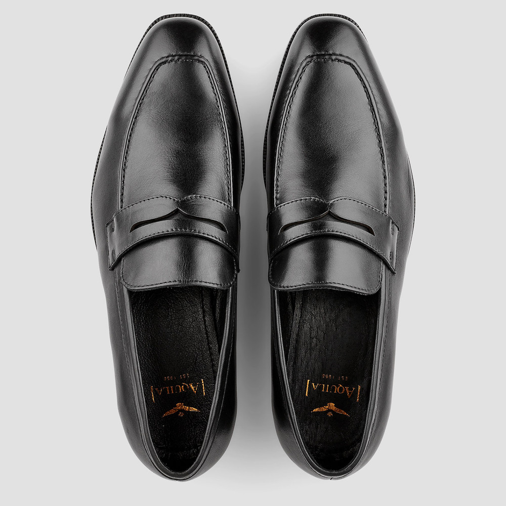 Rothman Black Penny Loafers