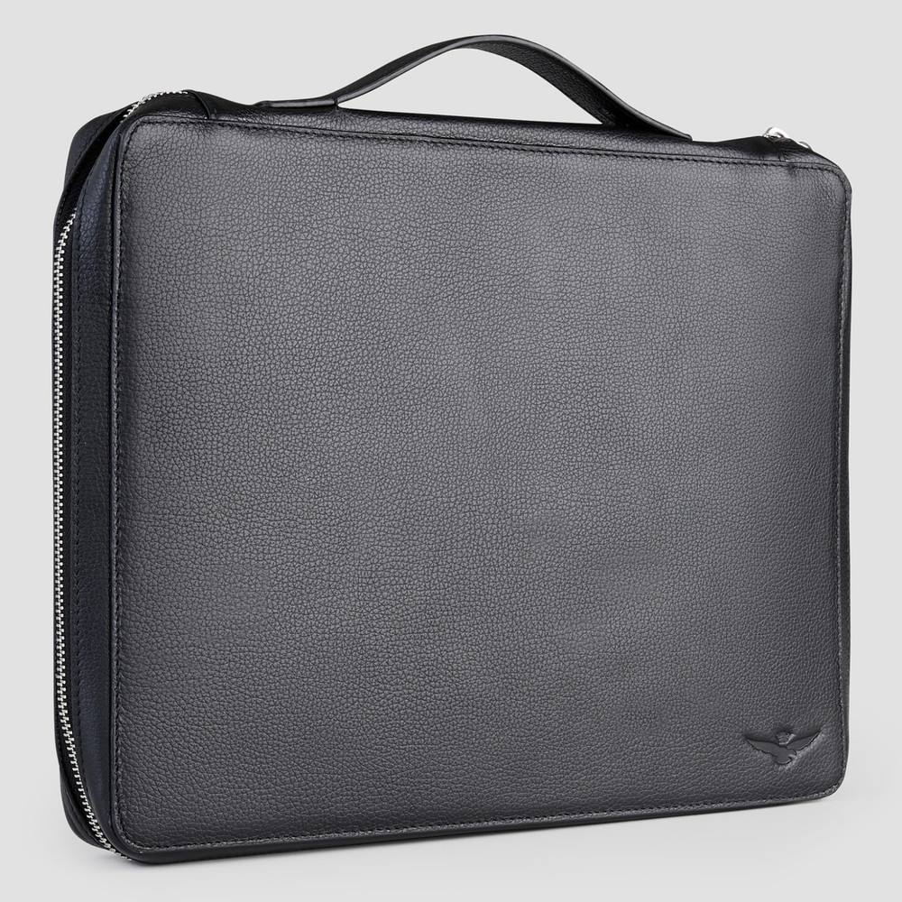 Flint Black Briefcase