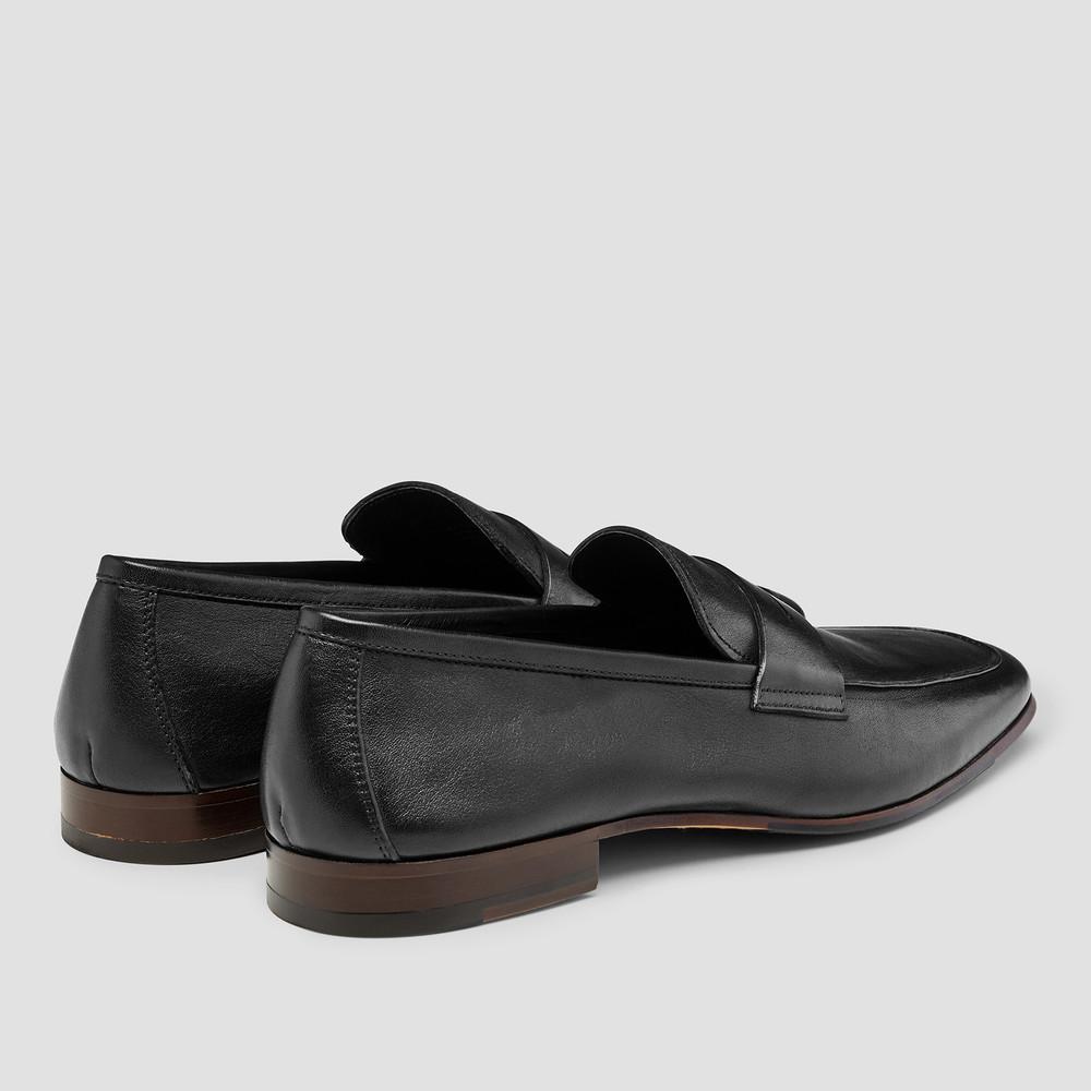 Eduardo Black Penny Loafers