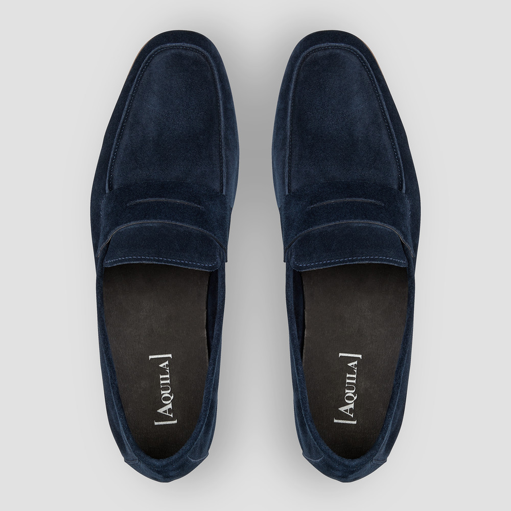 Miguel Navy Penny Loafers
