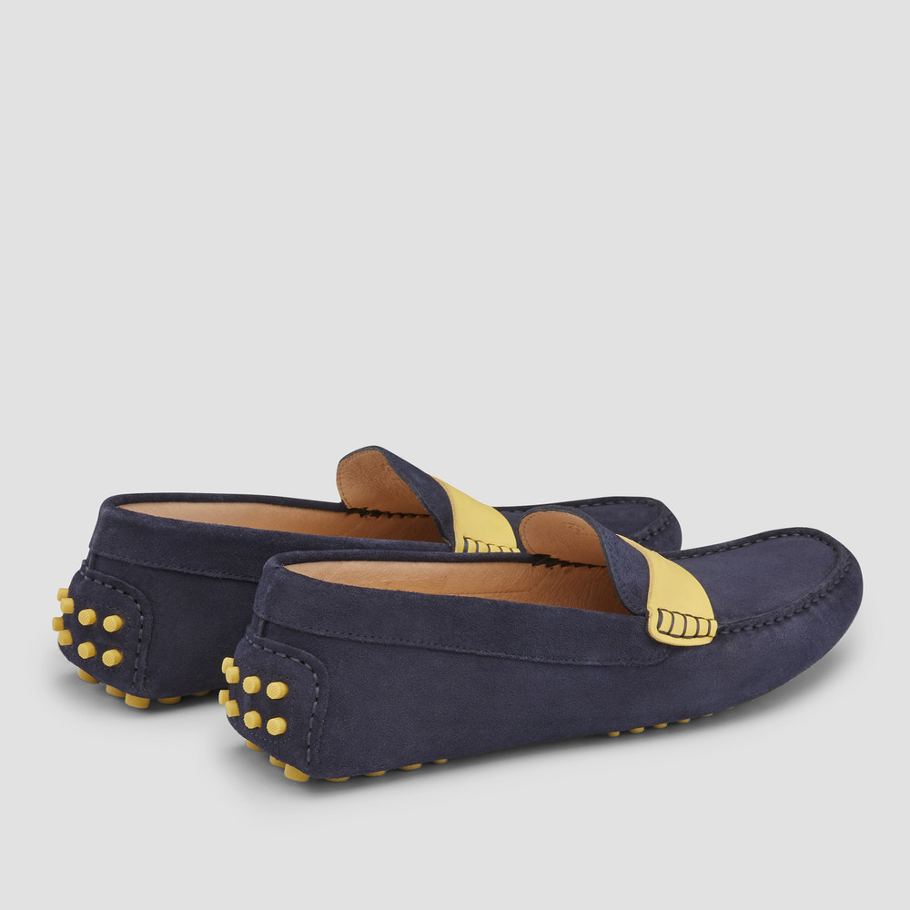 Monaco Navy Driving Shoes