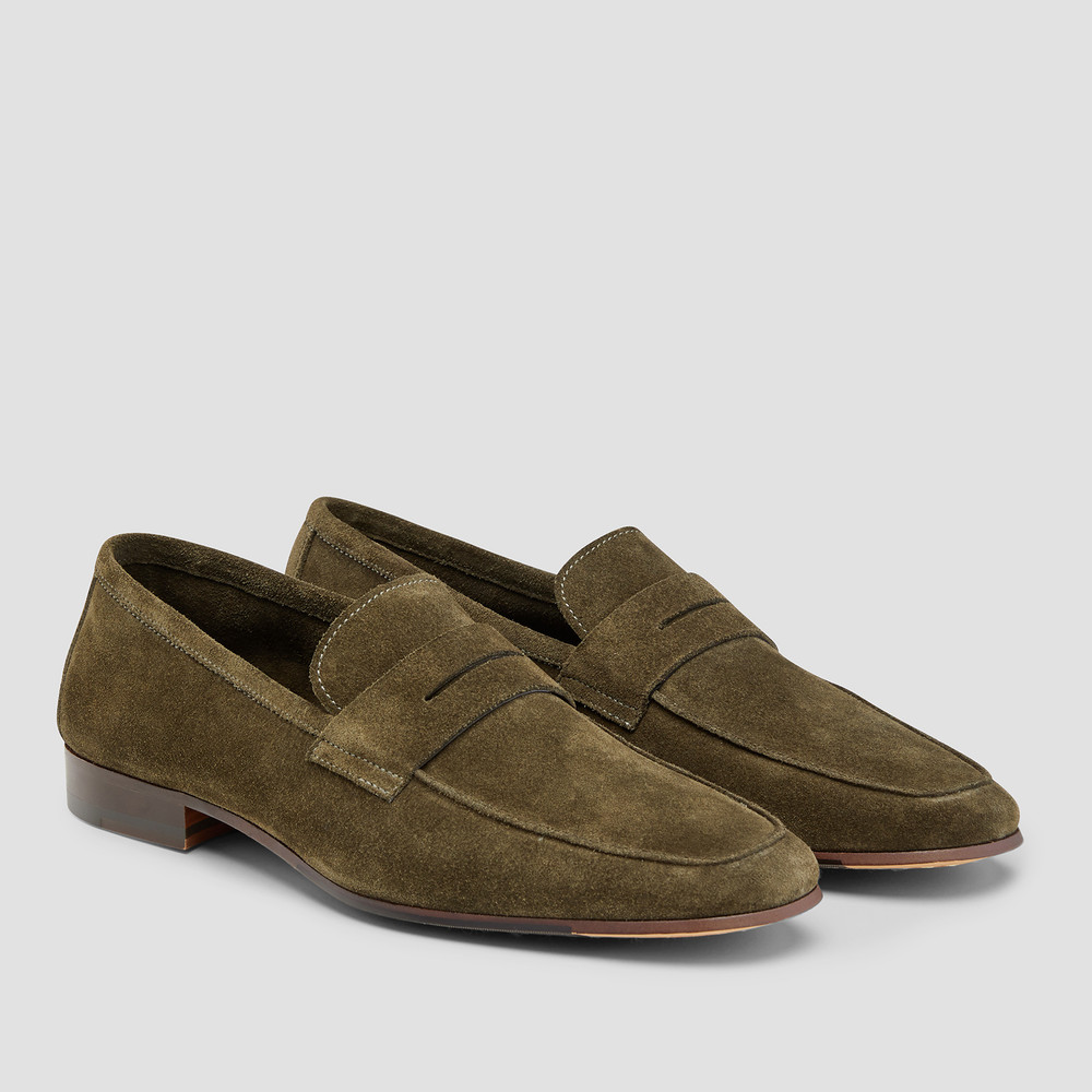 Miguel Olive Penny Loafers